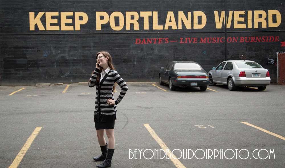 "The ""keep portland wierd"" sign, by Beyond Boudoir Photo, Beyond Boudoir Photo is a discrete, private photography service for women and couples in the Portland Oregon and Vancouver Washington area."
