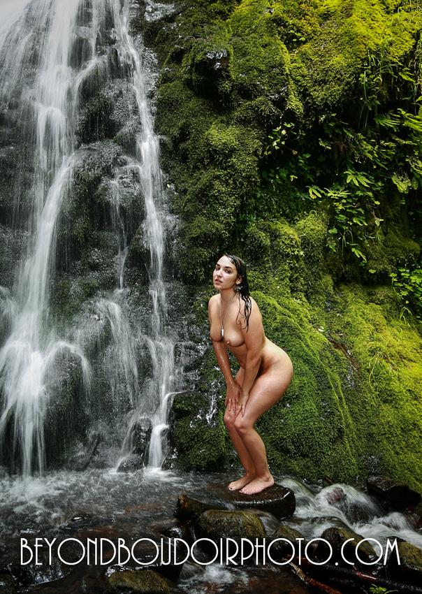 Columbia Gorge Waterfall Nude Photoshoot