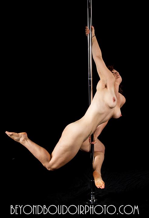 Portland Pole Dancer Brunette Two Nude NSFW