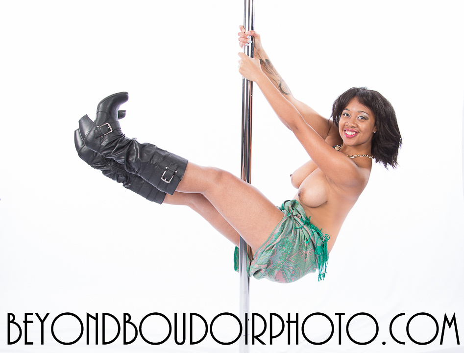 Portland Pole Dancer Black and Beautiful