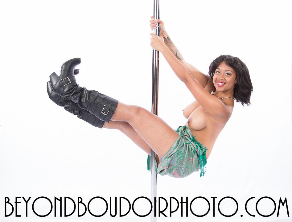 Portland Pole Dancer Black and Beautiful