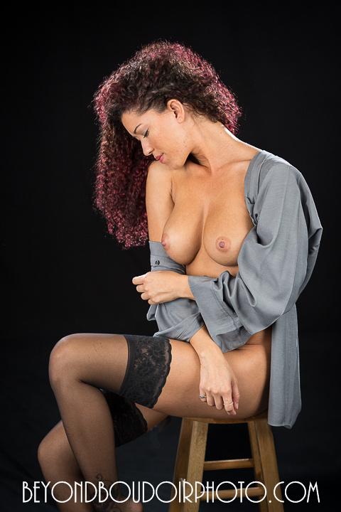 Amelia in the Studio, nude glamour NSFW Portland Boudoir Photographer